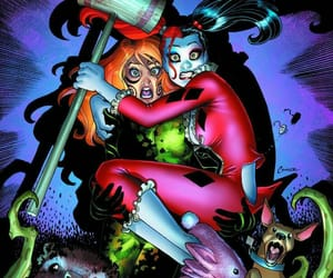 comics, poison ivy, and harley quinn image