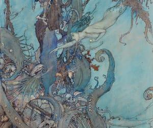 mermaid, illustration, and Edmund Dulac image