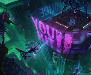 cyberpunk, digital art, and digital drawing image