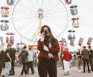amusement park, fashion blogger, and ferris wheel image