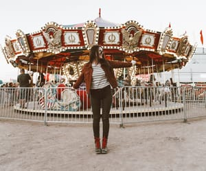 amusement park, carousel, and charlotte russe image