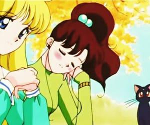 sailor moon, sailor jupiter, and makoto kino image