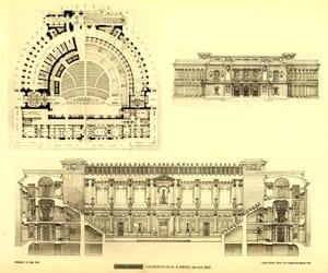 architecture, plan, and section image