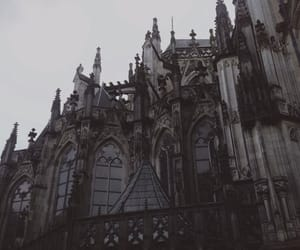 castle, church, and dark image