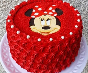 cake, food, and minnie image