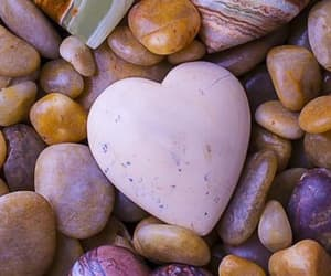 heart, stones, and beach image