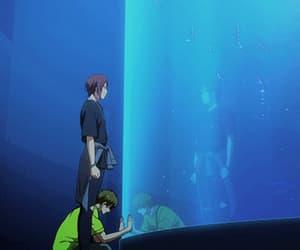 gif, scenery, and anime boy image