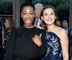 stranger things, samira wiley, and millie bobby brown image