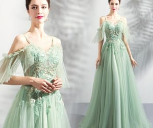 evening dress, formal dress, and tulle dress image