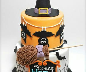 bats, cake, and Halloween image