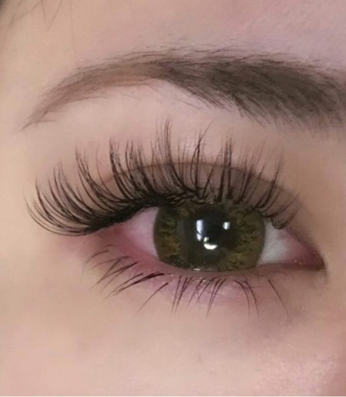 article, beauty, and eyelash extensions image