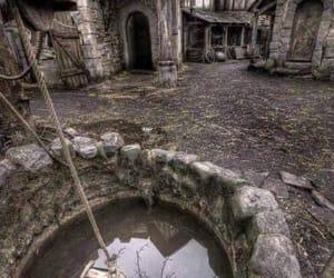scotland and abandoned village image