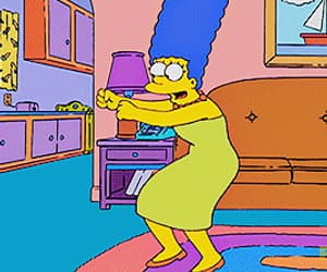 gif, marge, and simpsons image