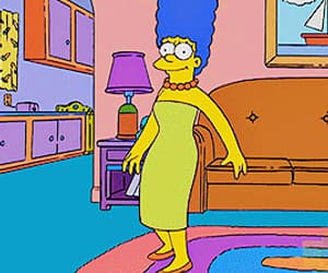 simpsons, gif, and marge image