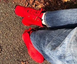 autumn, booties, and heels image