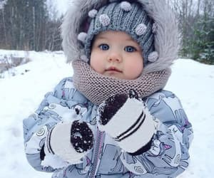 adorable, winter, and baby image