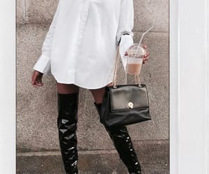 beige, boots, and purse image