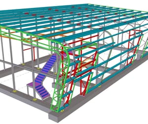 steel shop drawings and structural beam design image