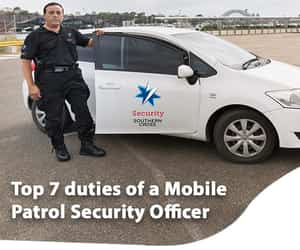 security guard and mobile patrol security image