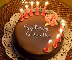 Birthday Cake With Name And Wishes Image