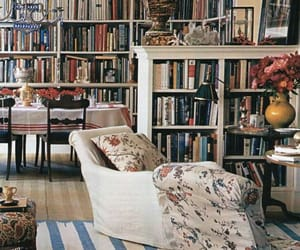 books, decoration, and library image