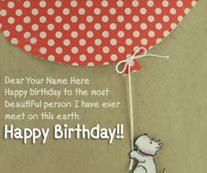 name birthday wishes, name birthday card, and online birthday card image