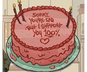 meme, cake, and sad image