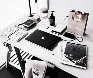 desk, study, and laptop image