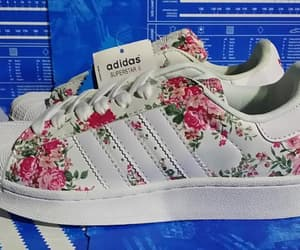 adidas, floral, and shoes image