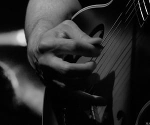 guitar, hand, and man image