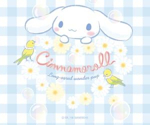 bird, blue, and cinnamoroll image
