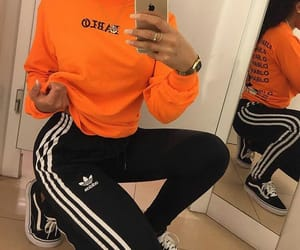 adidas, fashion, and orange image