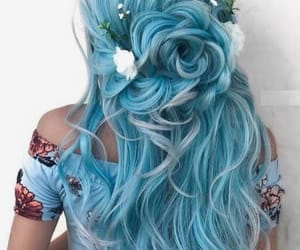 blue, long, and hair image