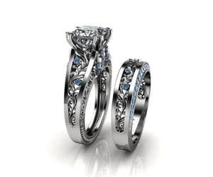 etsy, unique rings, and white gold ring image