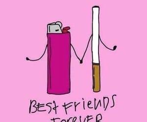 cigarette, smoke, and friends image