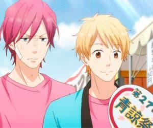 anime, funny, and rainbow days image
