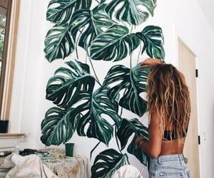 art, girl, and green image