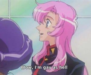 anime, pink, and gay image