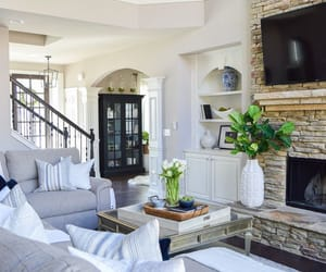 interior decorating, interior design, and staircase image