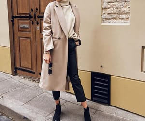 camel, outfit, and turtleneck image