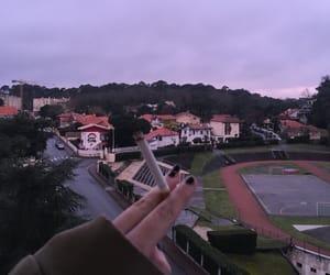 cigarette, cold, and sad image