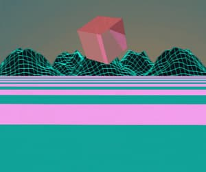 gif, seapunk, and synthwave image