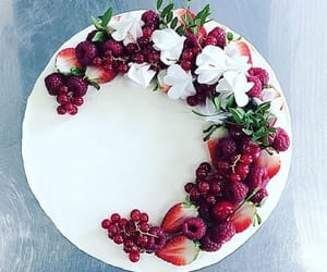cake, decor, and flowers image