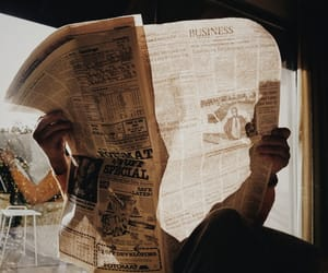 newspaper, vintage, and aesthetic image
