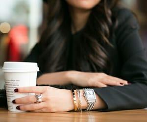 watch, coffee, and hair image