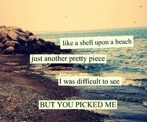 beach, love, and quotes image