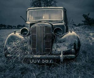 vintage car and abandoned image