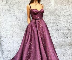 robe, violet, and robe longue violette image