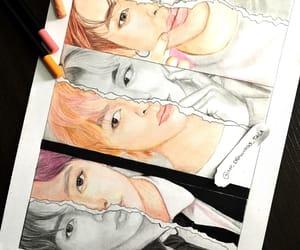 draw, v, and k idol image