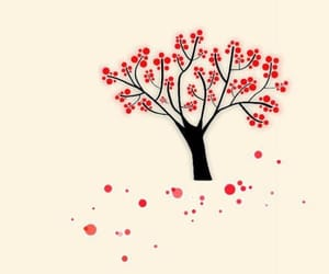 tree, wallpaper, and red image
